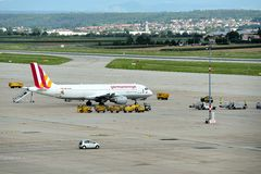 De Luchthaven van Stuttgart Stock Afbeeldingen