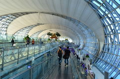 De luchthaven van Suvarnabhumibangkok Stock Fotografie