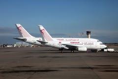 De luchthaven van Tunis Carthago stock foto's