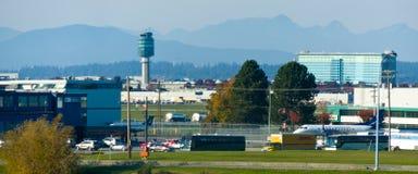 De luchthaven van Vancouver stock afbeeldingen