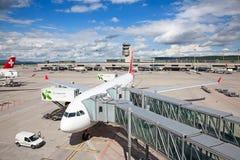 De Luchthaven van Zürich Stock Foto