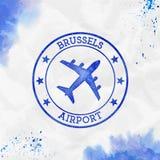 De luchthavenembleem van Brussel royalty-vrije illustratie