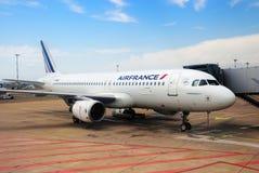 De Luchthavenluchtbus A 320 vliegtuigen Frankrijk van Marseille Royalty-vrije Stock Foto
