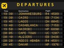 De luchthavens van Afrika Stock Foto