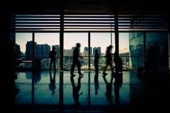 De luchthavens van doorgangvliegtuigen Stock Foto