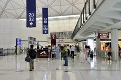 De luchthaventerminal in Hongkong Royalty-vrije Stock Foto's