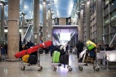 De de luchthavenzaal van Teheran Stock Afbeeldingen