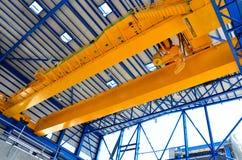 De luchtkraan van de fabriek royalty-vrije stock foto