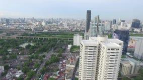 De Luchtlengte van de stadsmening stock footage