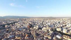 De luchtlengte van Palma de Mallorca stock footage