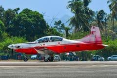 De Luchtmacht Pilatus PC-7 Mk van Maleisi? II royalty-vrije stock afbeeldingen