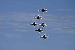 De Luchtmacht van de USAF Thunderbirds toont Stock Afbeeldingen