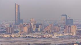 De luchtmening aan het district van de Festivalstad timelapse omvat flats, hotels, winkelcentra en vermaakplaatsen stock footage