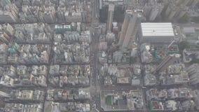 De luchtmening over Kowloon, Veinzerij Shui Po, in Hong Kong bespaart op logboekdossier stock video