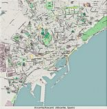 De luchtmening van Alicante Spanje Europa hallo onderzoek Royalty-vrije Stock Foto's