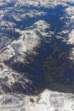 De Luchtmening van alpen Stock Afbeeldingen