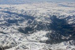 De Luchtmening van alpen Royalty-vrije Stock Foto