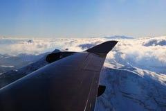 De Luchtmening van alpen van vliegtuig Stock Afbeelding
