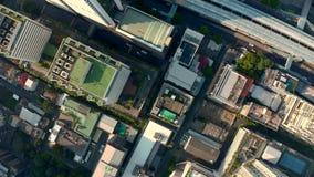 De luchtmening van Bangkok stock videobeelden