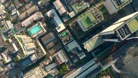 De luchtmening van Bangkok stock video