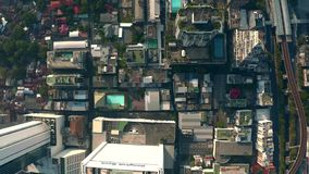De luchtmening van Bangkok stock footage