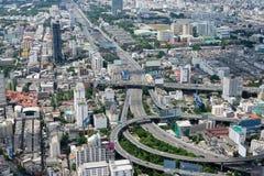 De luchtmening van Bangkok Stock Afbeeldingen