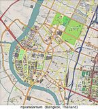 De luchtmening van Bangkok, Thailand, Azië Royalty-vrije Stock Foto's