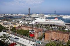 De luchtmening van Barcelona Stock Foto