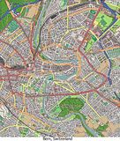 De luchtmening van Bern, Zwitserland, Europa Royalty-vrije Stock Afbeeldingen
