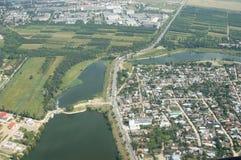 De luchtmening van Boekarest Stock Afbeeldingen