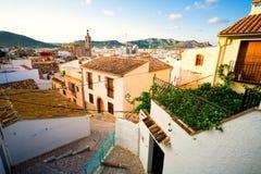 De luchtmening van Castillo DE Sagunto Stock Fotografie
