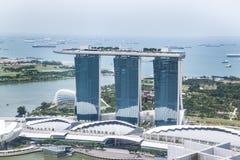 De luchtmening van de Baai van de Jachthaven van Singapore Royalty-vrije Stock Foto's