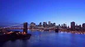 De luchtmening van de Brug van Brooklyn royalty-vrije stock afbeeldingen