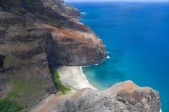 De luchtmening van de Kust van Na Pali Stock Foto