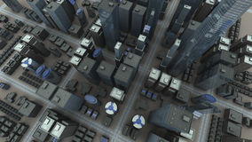 De luchtmening van de stad Stock Fotografie
