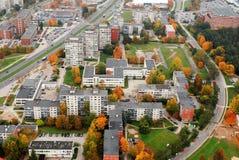 De luchtmening van de Vilniusstad - de Litouwse hoofdmening van het vogeloog stock afbeelding