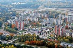 De luchtmening van de Vilniusstad - Litouws kapitaal royalty-vrije stock foto