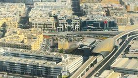 De luchtmening van Doubai van het vliegtuigvenster Stock Foto's