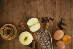 De luchtmening van draad zwaait met appel en kruiden Royalty-vrije Stock Afbeelding
