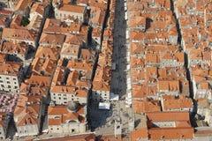 De luchtmening van Dubrovnik Stock Fotografie