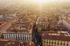 De luchtmening van Florence Royalty-vrije Stock Afbeelding