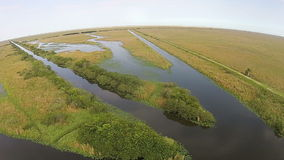 De luchtmening van Florida Everglades Stock Afbeeldingen