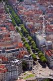 De luchtmening van Grenoble Stock Foto's