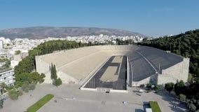 De Luchtmening van het Panathenaicstadion stock videobeelden