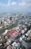 De LuchtMening van Ho-Chi-Minh-Stad, Saigon Vietnam Stock Afbeelding