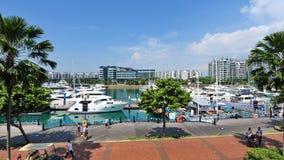 De luchtmening van jachten bij het Jacht van Singapore toont 2013 Stock Foto's