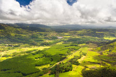 De Luchtmening van Kauai Stock Afbeeldingen