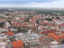 De luchtmening van Leipzig stock afbeeldingen