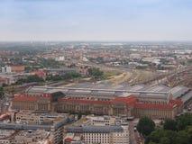 De luchtmening van Leipzig stock afbeelding