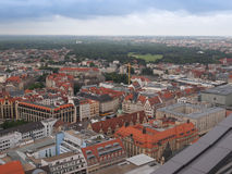 De luchtmening van Leipzig stock fotografie